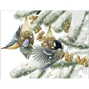 5D DIY Diamond Painting Kits Winter Bird Family - Z3