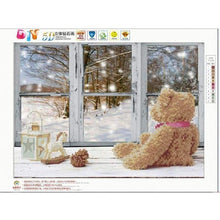 Load image into Gallery viewer, Full Drill - 5D DIY Diamond Painting Kits Winter Christmas Window Bear - NEEDLEWORK KITS