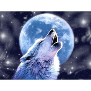 5D DIY Diamond Painting Kits Wolf Moon Starry UK - Z5
