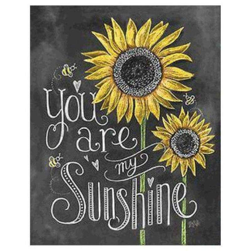 5D Diamond Painting Kits Sunflower You Are My Sunshine Blackboard - 4