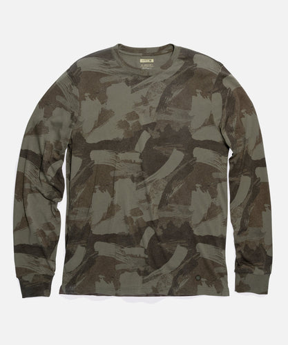 Stance T-Shirts BRUSHSTROKE CAMO LONG SLEEVE Green
