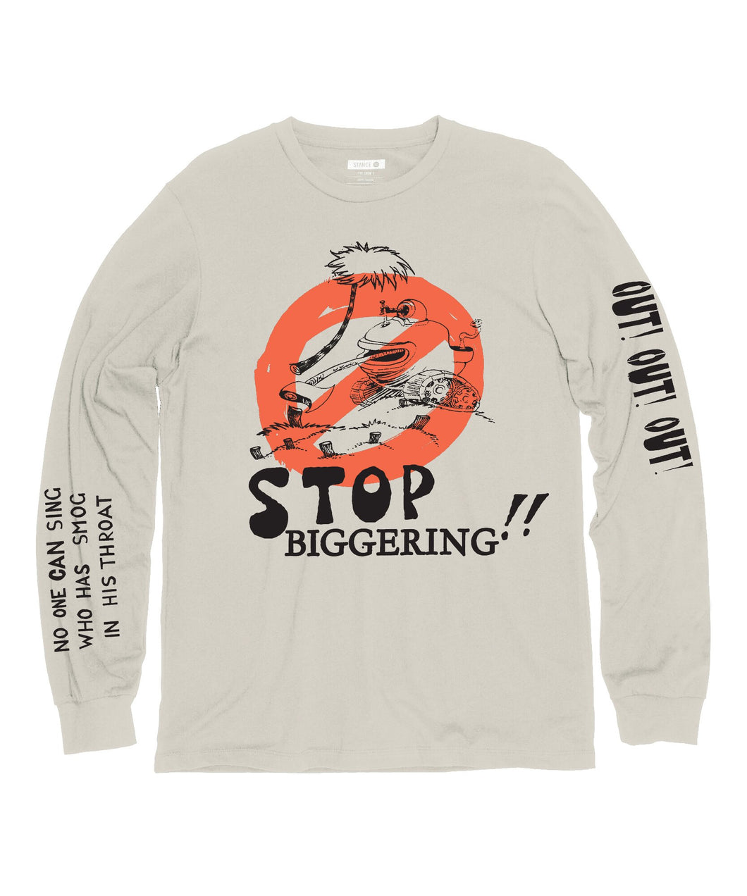 Chaussettes Stance - STOP BIGGERING - Canvas