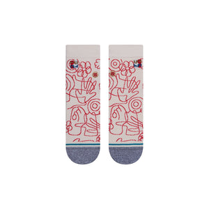 Stance Socks HANDSY QUARTER Off White