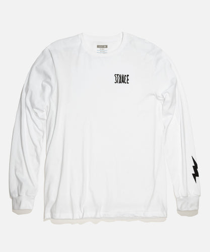 Chaussettes Stance - CHAMBER LONG SLEEVE - Blanc