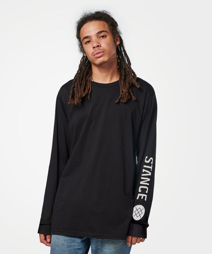 T-shirts Stance - SOURCE LONG SLEEVE - Noir