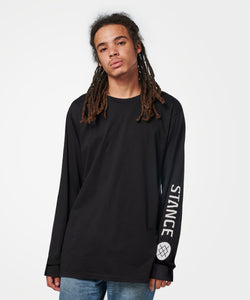 Stance T-Shirts ICON LONG SLEEVE T-SHIRT Black