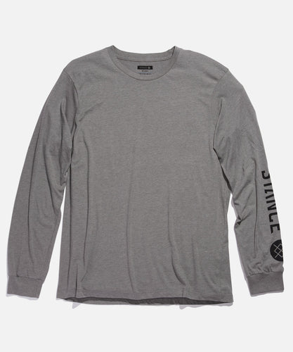 T-shirts Stance - SOURCE LONG SLEEVE - Gris chiné