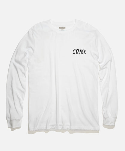 Stance T-Shirts CIRCLE UP LONG SLEEVE T-SHIRT White