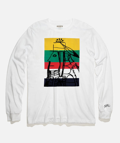Stance T-Shirts WARRIOR LONG SLEEVE T-SHIRT White
