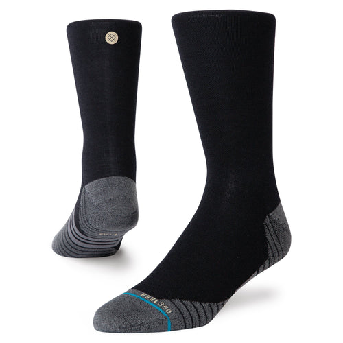 Stance-Socken – CYCLING WOOL QUARTER – Schwarz