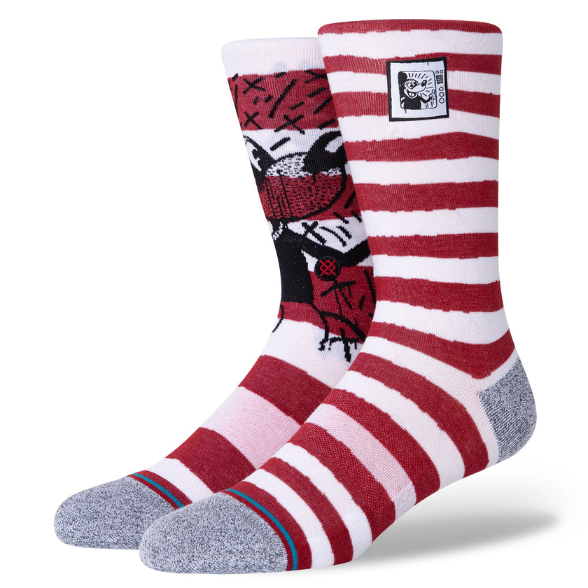 Chaussettes Stance - MICKEY TV HARING MIX - Rouge