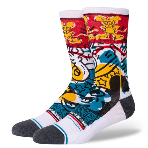 Chaussettes Stance - PRIMARY HARING - Blanc