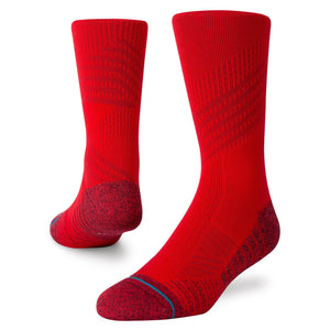 Stance Socks ATHLETIC CREW Red