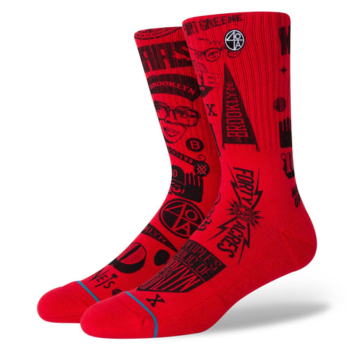 Stance Socks BROOKLYN ICONS Red
