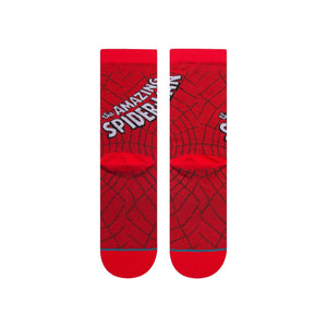 Stance Kids Marvel Socks Amazing Spiderman Red