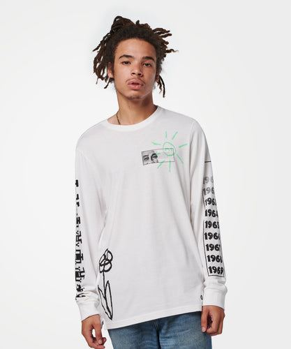 T-shirts Stance - MANCHES LONGUES DECADE - Blanc