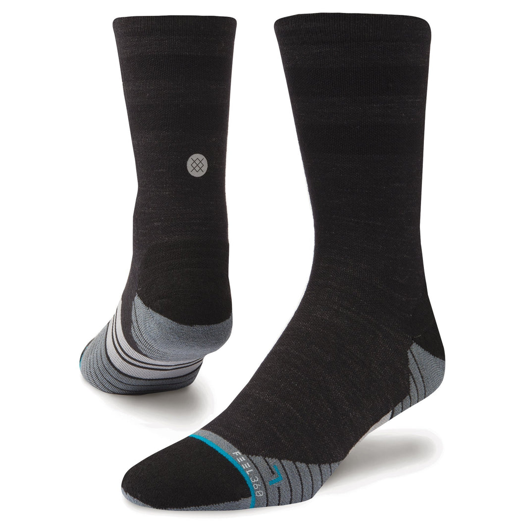 Chaussettes Stance - BIKE SOLID WOOL CREW - Anthracite