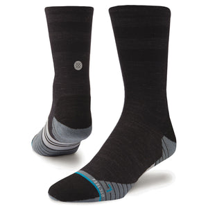 Stance Socks Mens Uncommon Solids Wool Crew Charcoal