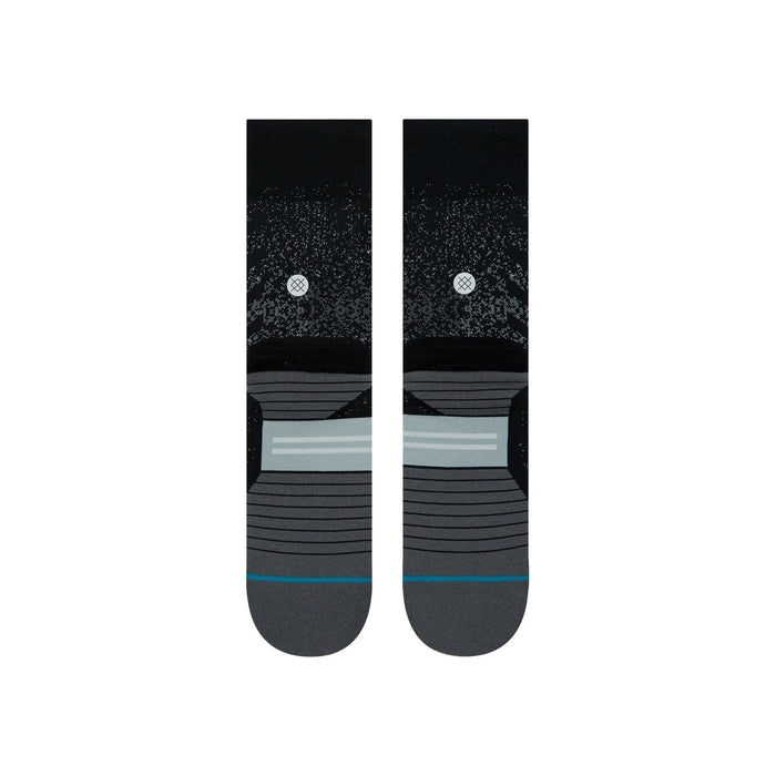 Stance Running Socks Uncommon Crew Black