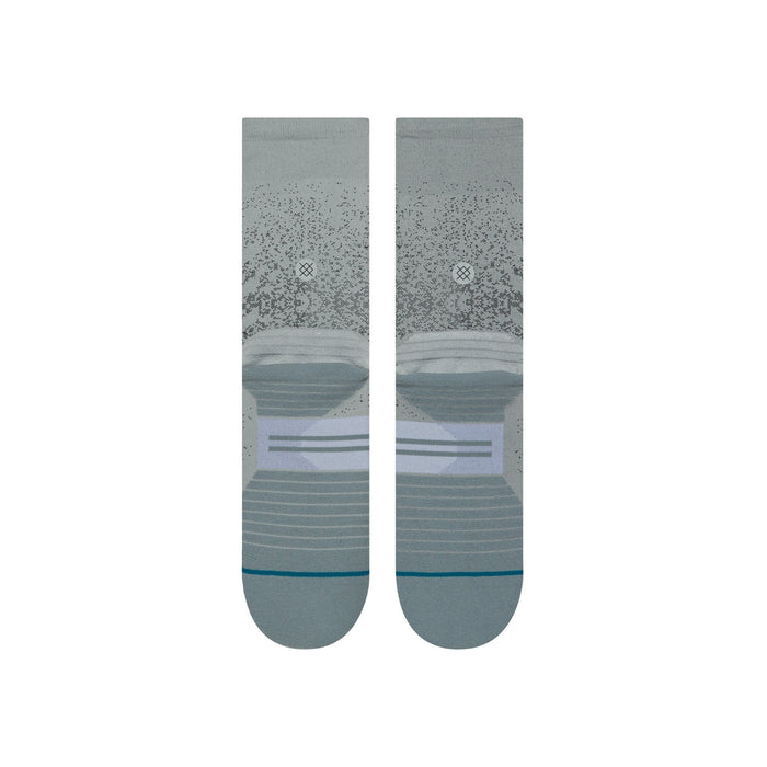 Stance Running Socks Uncommon Crew Grey
