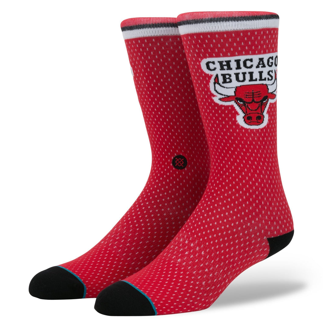 Stance Socks Bulls Jersey Red