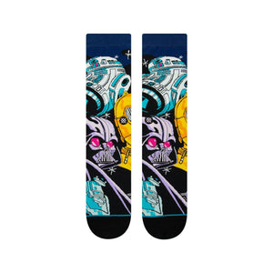 Stance Star Wars Socks Warped R2D2 Black
