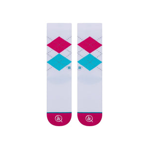 Stance Socks ARGYLE ARROWS White