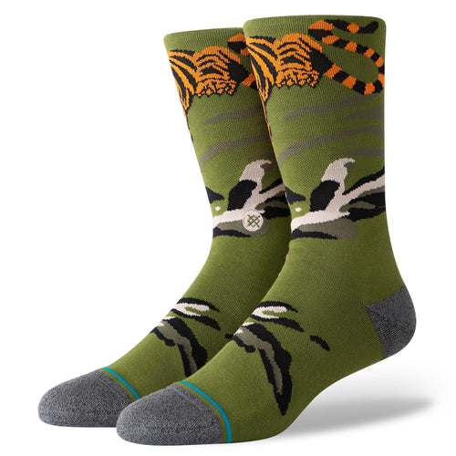 Stance Socks BIG CAT CREW Green