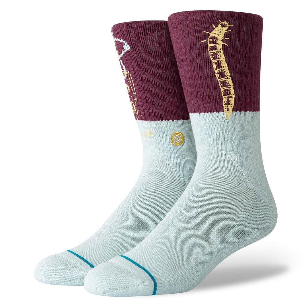 Stance Socks Science Maroon