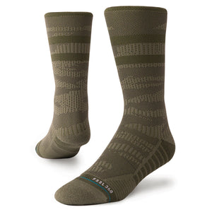 Stance Socks Training Uncommon Solids Crew Olive