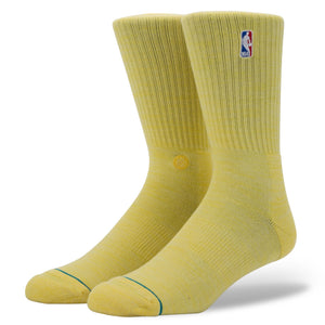 Stance Socks Nba Logoman Crew II Light Yellow