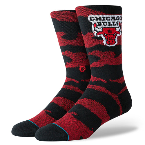 Stance Basketball Socks Bulls Camo Melange Black & Red