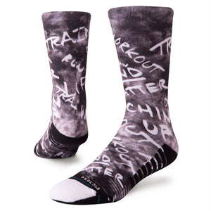 Stance Athletic Socks Disfunction Crew Black