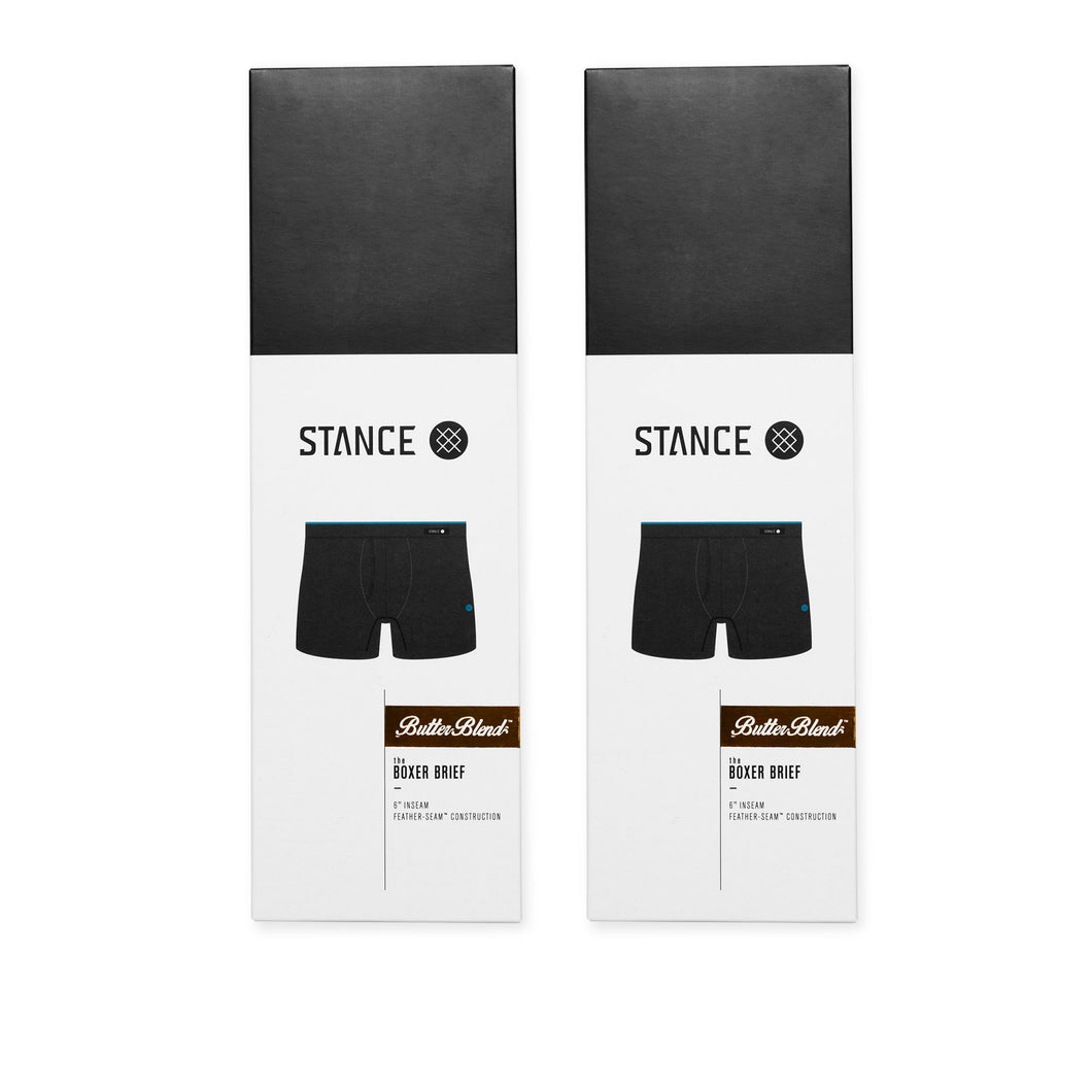 Stance Underwear STAPLE BOXER BRIEF 2 PACK Black