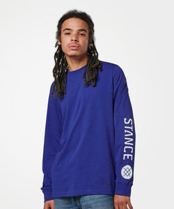 Stance T-Shirts BASIS LONG SLEEVE Blue