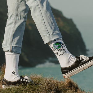 Chaussettes Stance - KEEP ON MOVIN - Blanc