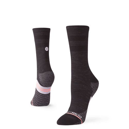Chaussettes Stance - WOMENS UNCOMMON SOLIDS WOOL CREW - Noir