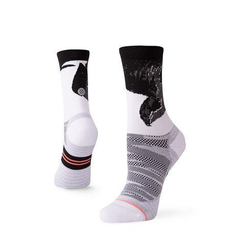 Stance Socks Lauren Fleshman Bird Crew White