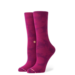 Stance Socks Boss Lady Crew Merlot