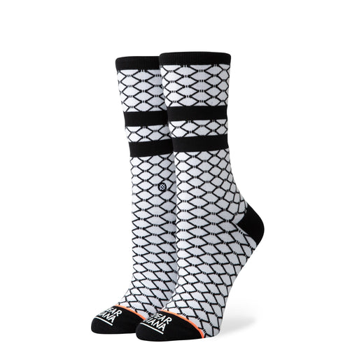 Stance Socks Fish Nets White