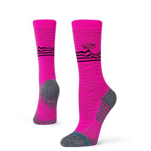 Chaussettes Stance - VOLUME CREW - Rose fluo