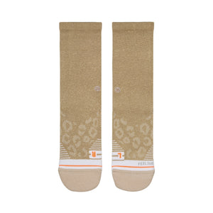 Stance Athletic Socks Shiny Gold Crew Gold