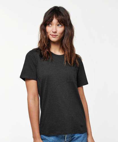 Stance T-Shirts SHELTER POCKET T-SHIRT WOMENS Black fade