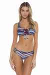 Adelle Lacy Scoop Neck Bikini Top front