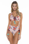 Antoinette Lacy Scoop Neck Bikini Top front