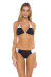 Block Party Cari Triangle Bikini Top BAW Front