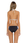 Block Party Cari Triangle Bikini Top BAW Back