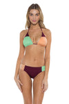 Block Party Cari Triangle Bikini Top BAM Front