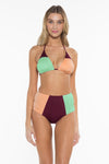 Block Party Cari Triangle Bikini Top