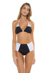 Block Party Cari Triangle Bikini Top front
